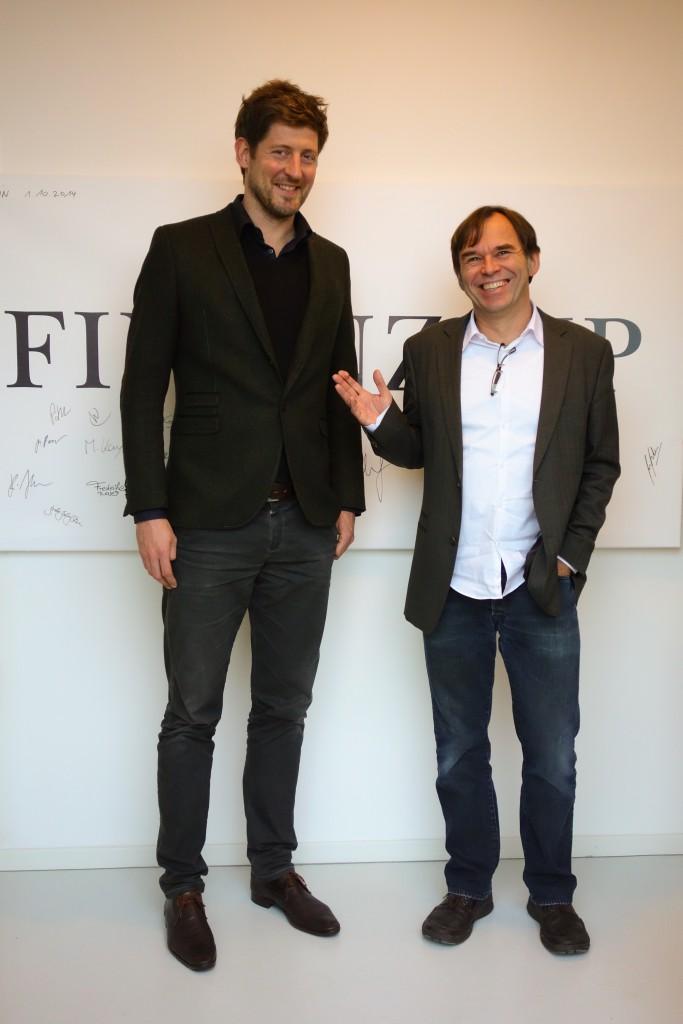 Finanztip-Geschäftsführer Sebastian Zacharias und Hermann-Josef Tenhagen