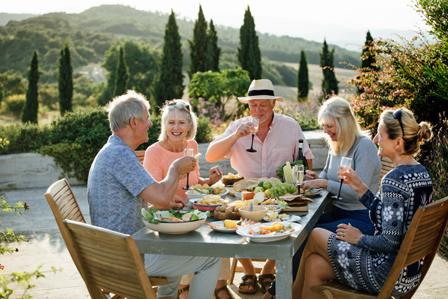 Alte Freunde in der Toskana
