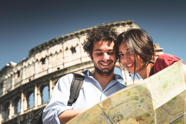 Reise zum Colosseum nach Rom