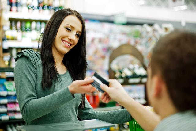 Abheben im Supermarkt