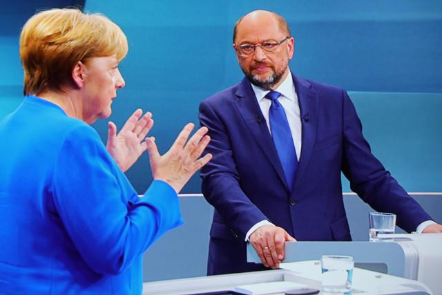 TV-Duell Martin Schulz gegen Angela Merkel