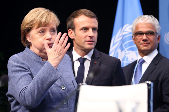 Merkel und Macron beim Weltklimagipfel