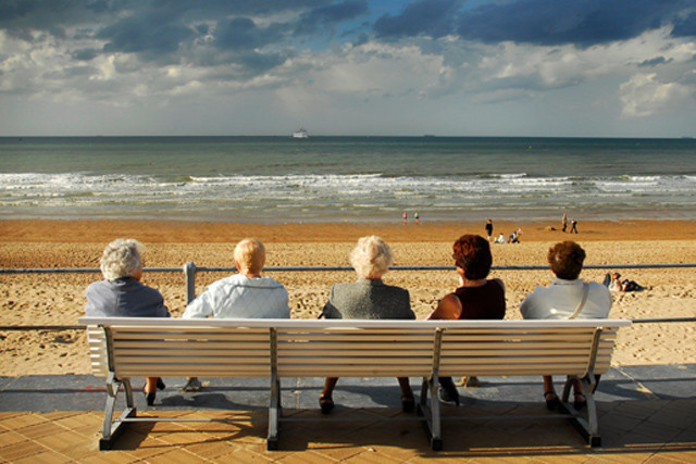 Seniorinnen am Strand