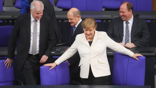 Merkel am Tag der Wahl zur neuen (alten) Kanzlerin