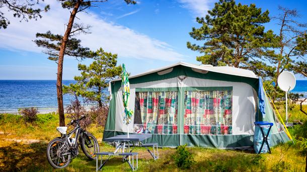 Mit Fahrrad und Zelt an der Ostsee