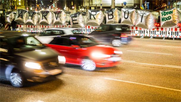 Demo für Fahrverbot für Diesel in Stuttgart