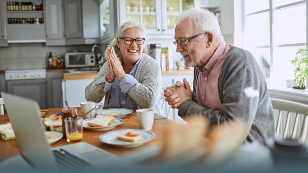 Zufriedene Rentner