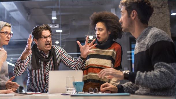 Streit im Büro mit dem Chef