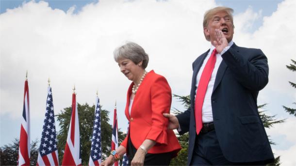 UK-Premier Theresa May und US-Präsident Donald Trump.