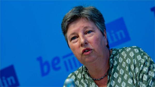 Die Berliner Wohnungssenatorin Katrin Lompscher (Die Linke)