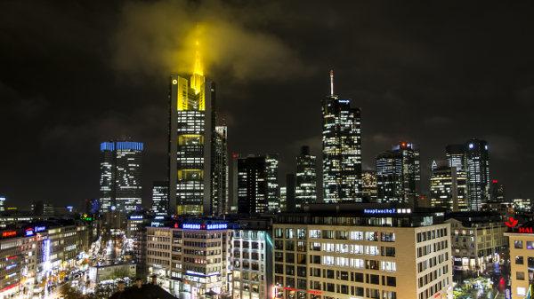 Nebel über der Commerzbank