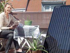 Solaranlage auf Balkon