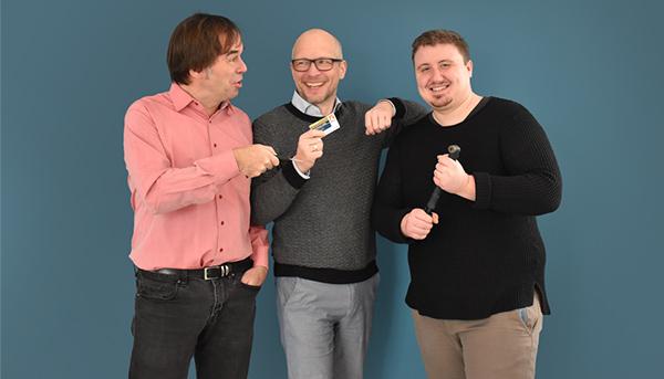 Chef Hermann-Josef Tenhagen, Stellvertreter Matthias Urbach und Werkstudent Jan Pohlmann