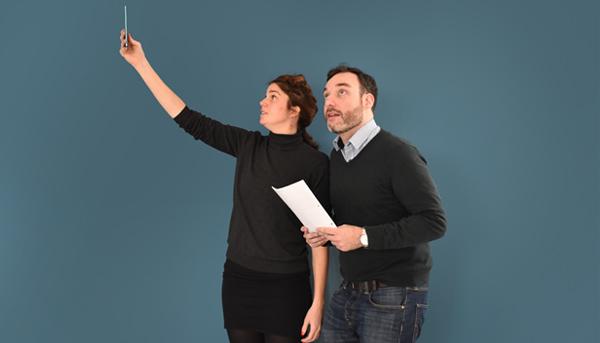 Redakteurin Kathrin Gotthold und Volontär Max Mergenbaum