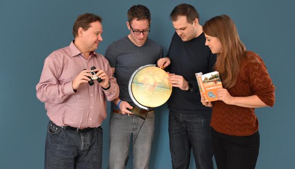 Redakteure Udo Reuß, Hendrik Buhrs, Daniel Pöhler und Julia Rieder