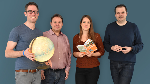 Redakteure Hendrik Buhrs, Udo Reuß, Julia Rieder und Daniel Pöhler