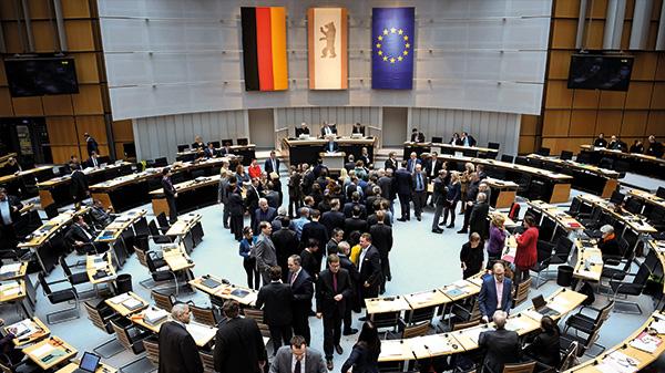 Namentliche Abstimmung zum Mietendeckel Ende Januar im Berliner Abgeordnetenhaus.