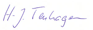 Unterschrift von Hermann-Josef Tenhagen