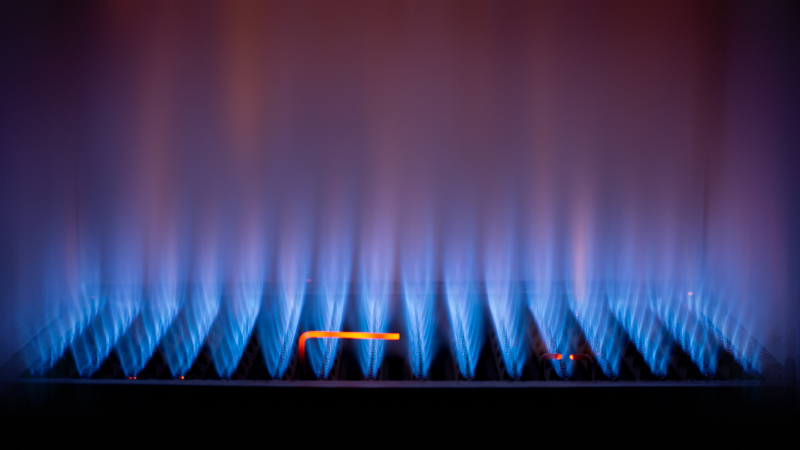 Flamme in einer Gastherme