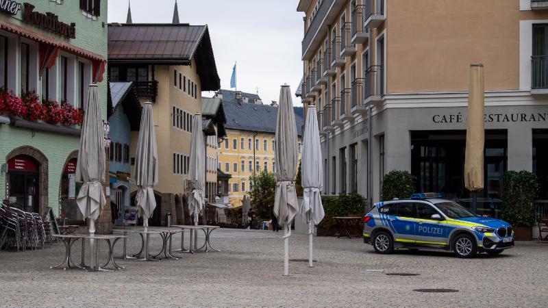 Leerer Platz in Berchtesgaden