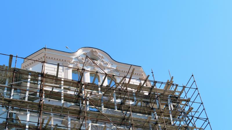 Gerüst einer Bausanierung