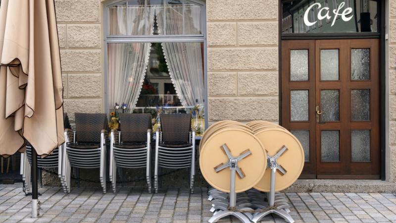 Geschlossenes Cafe