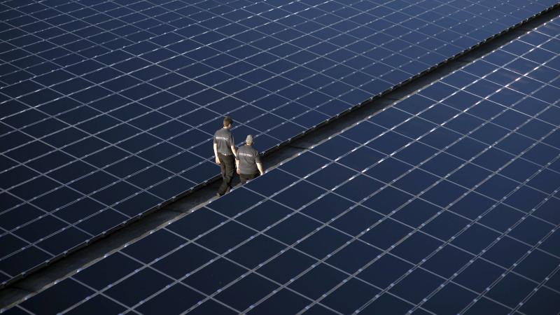 Solarkraftwerk auf dem ehemaligen Flugplatz Templin in Brandenburg