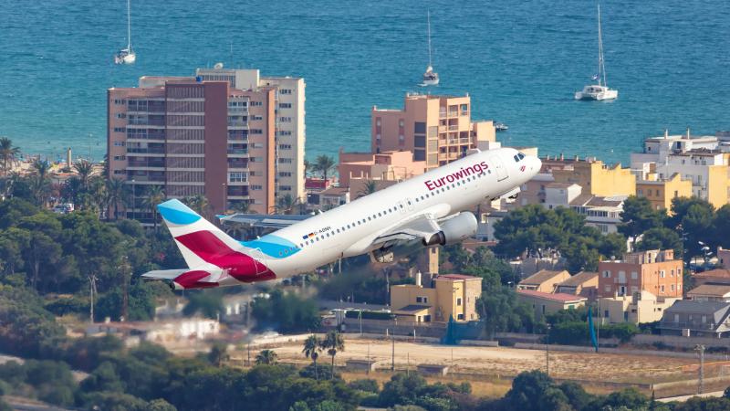 Airbus über Mallorca