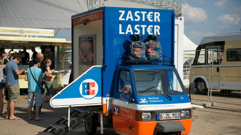 Zaster Laster der Berliner Volksbank
