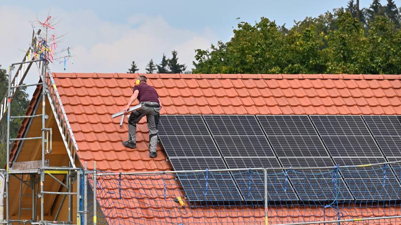Montage von Solarmodule