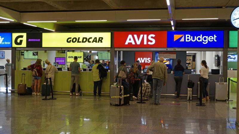 Mietwagen-Station am Flughafen von Mallorca