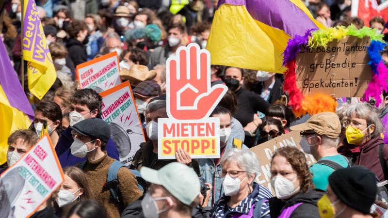 Mieten-Demonstration in Berlin