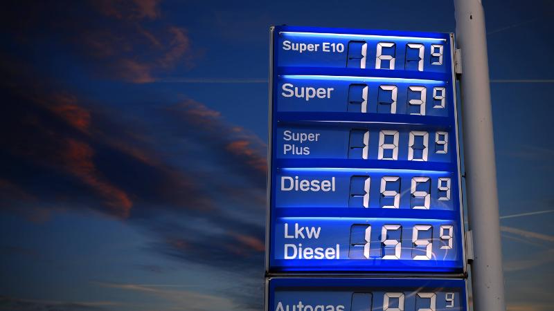 Benzinpreise einer Tankstelle