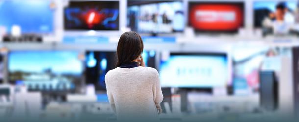 Frau im TV-Geschäft