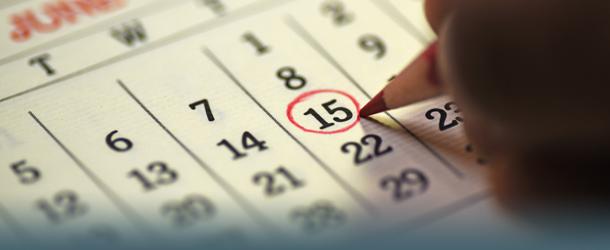 Dick im Kalender angestrichen
