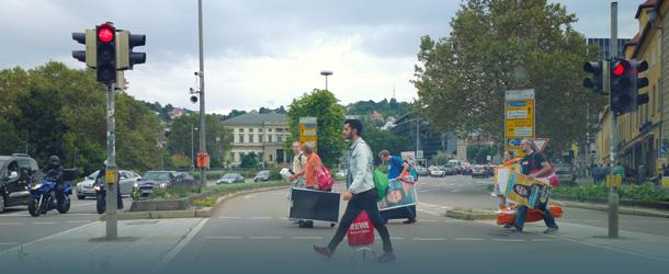 Kreuzung in Stuttgart