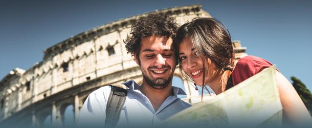 Paar vorm Colosseum