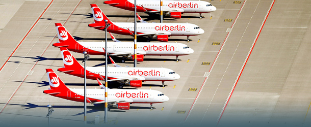 Air Berlin Maschinen am Boden