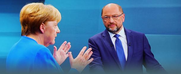 TV Duell Merkel und Schulz