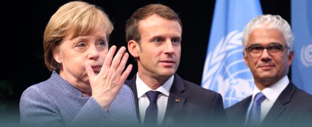 Klimagipfe Merkel und Macron