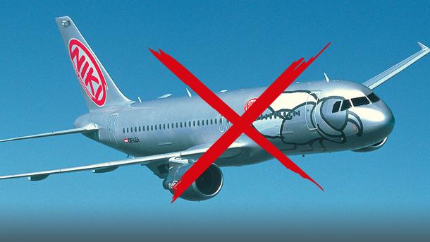 Flugzeug der Niki Fluggesellschaft