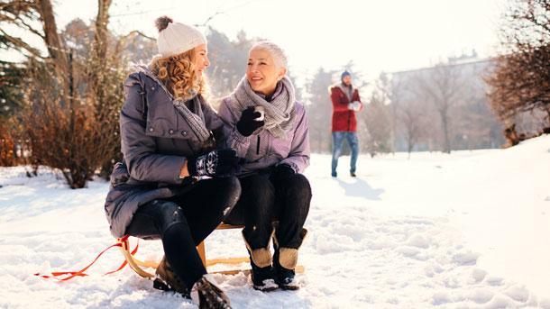 Gespräch im Schnee
