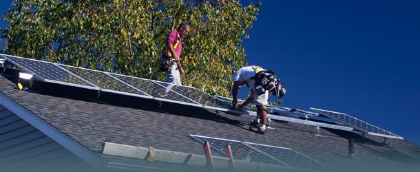 Solaranlage wird installiert
