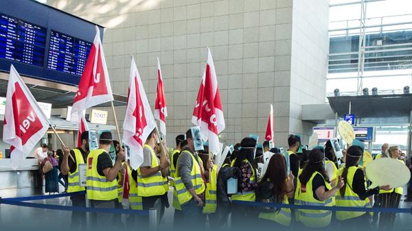 Streik bei Ryanair aus dem Vorjahr.