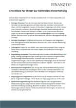 checkliste korrekte mieterhhung - Mieterhohungsschreiben Muster