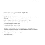 musterschreiben antrag teilzeit - Antrag Teilzeit Muster
